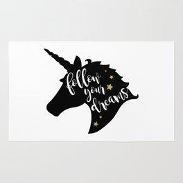 """Follow Your Dreams"" Unicorn Rug"
