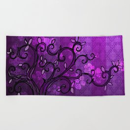 LEAVE - Spring Plum Beach Towel