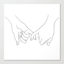 Pinky Promise Canvas Print