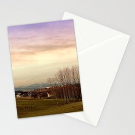 Beautiful panorama under a cloudy sky | landscape photography Stationery Cards