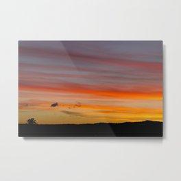 Sunset Lines Metal Print