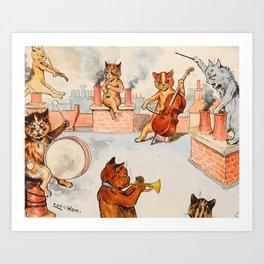 CATS ORCHESTRA - Louis Wain Cats Art Print