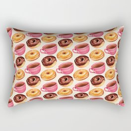 Coffee & Donuts Pattern Rectangular Pillow