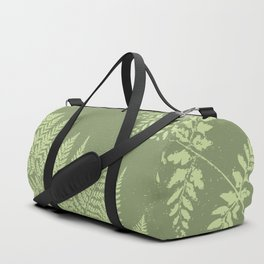 Dark olive fern Duffle Bag
