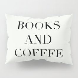 Books & Coffee Pillow Sham