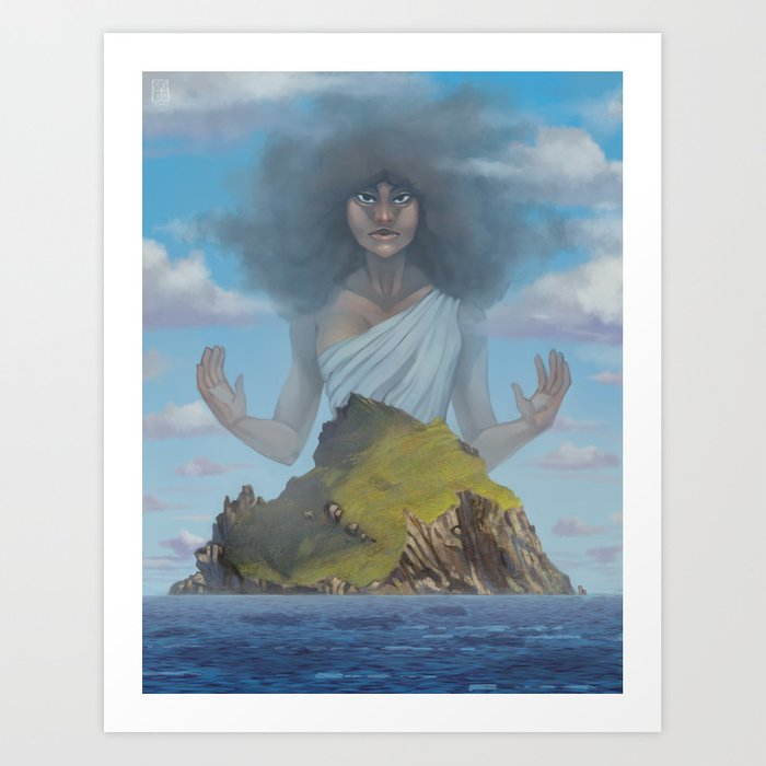 Protected Island Art Print