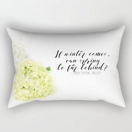 Hope for Spring in the Winter Rectangular Pillow