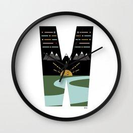 PNW - W Wall Clock