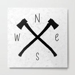 compass & axes Metal Print