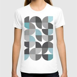 Gray and blue pattern T-shirt