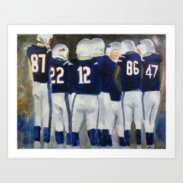 Patriots Huddle  Art Print