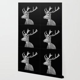 Deer Black Wallpaper