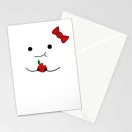Eating ipod cover- with a bow! Stationery Cards