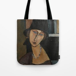 Modigliani - Jeanne Hebuterne With Hat And Necklace Tote Bag