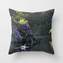 Summer lake reflections Throw Pillow