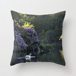 Summer lake reflections Throw Pillow