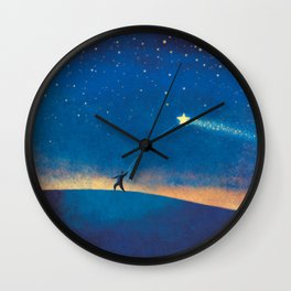 Stars Kite Wall Clock