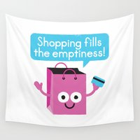 sagan Wall Tapestries featuring Retail Therapy by David Olenick