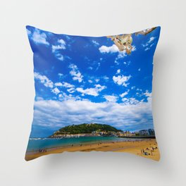 Donostia San Sebastian Throw Pillow