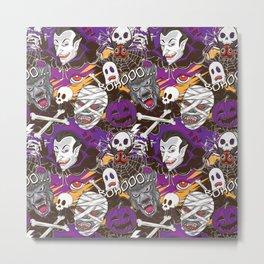 Halloween Monsters Metal Print