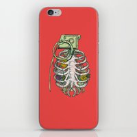 garden iPhone & iPod Skins featuring Grenade Garden by Huebucket