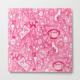 Witchy Things - Bubblegum Pink Metal Print