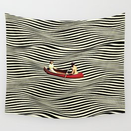 Illusionary Boat Ride Wall Tapestry