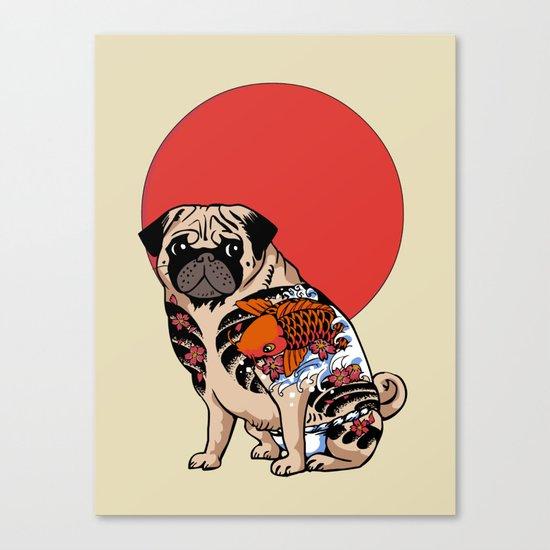 Yakuza Pug Canvas Print