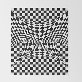 Twisted Checkers Throw Blanket