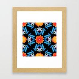 Geometric Dia De Los Ajolotes Framed Art Print