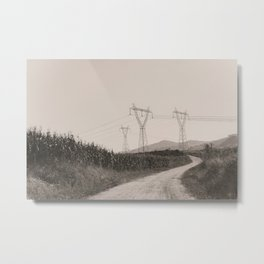 The Towers Of Electric In The Countryside Metal Print