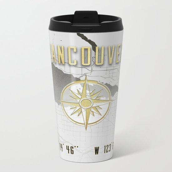 Vancouver - Vintage Map and Location Metal Travel Mug