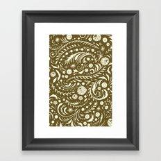 Bronze Flora Swirl Framed Art Print