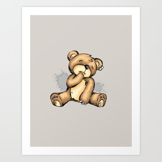 My Teddy Art Print