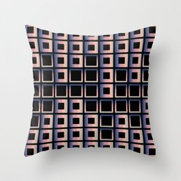 Composition of squares Throw Pillow