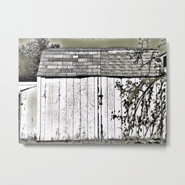 WHAT'S IN THE SHED! Metal Print