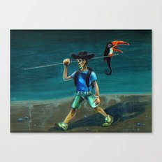 Walking with my Tucan. Canvas Print
