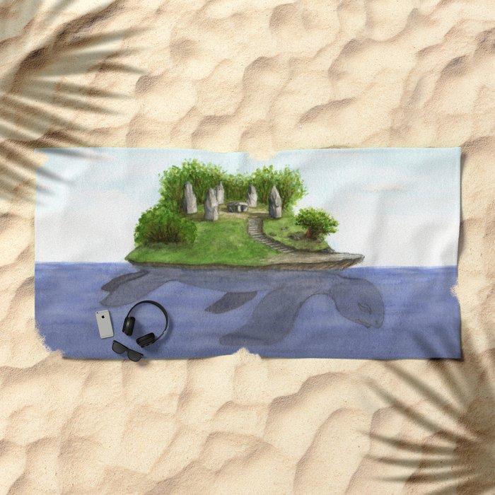 Turtle island Beach Towel