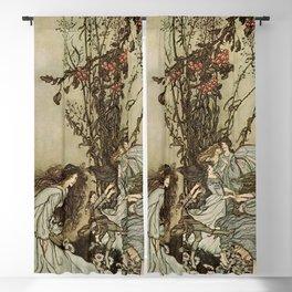 """Dancing With the Fairies"" by Arthur Rackham Blackout Curtain"