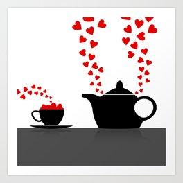 Love kitchen Art Print