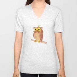 the nice owl Unisex V-Neck