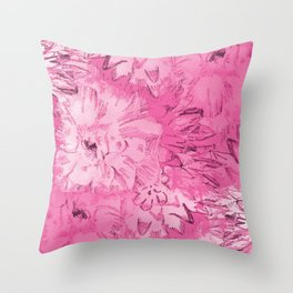 ETCHED PINK FLORAL Throw Pillow