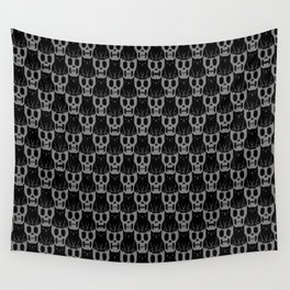 Skulls & Cats Dark Wall Tapestry
