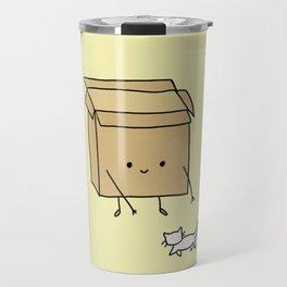 Boxes love cats Travel Mug