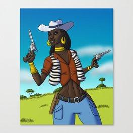 Texas Cowgirl Canvas Print