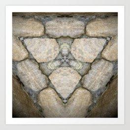 Cotswold Stone Triad Art Print