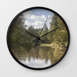 Early Autumn Reflections Wall Clock