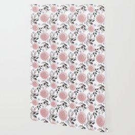 Delicate floral pattern. Wallpaper