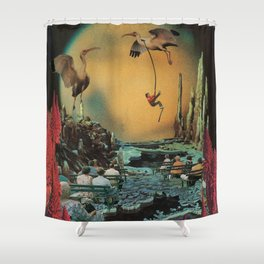 Licorice Icarus Shower Curtain