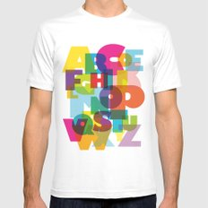 ABC in colour Mens Fitted Tee White MEDIUM